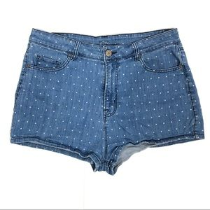 BDG Polka Dot High Rise Erin 5 Pocket Shortie